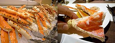 ホテル日航福岡『 SERENA (セリーナ) 』:タラバ蟹、ズワイ蟹、アブラ蟹