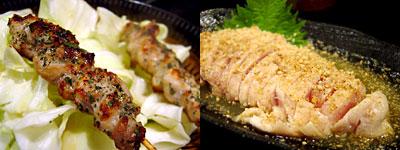 村�ア焼鳥研究所:セセリ、ささみしぎ焼き