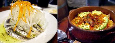 鰯の酢漬け、スペイン風炊き込みご飯