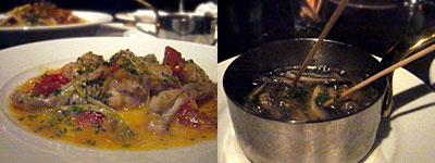 Tapas Oki (タパス オキ):グルヌイユの温サラダ、アヒージョ