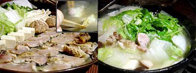 天草大王の鶏しゃぶしゃぶ と 博多水炊き