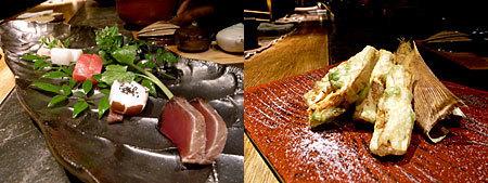 大どころ:刺身盛り、竹の子の天ぷら