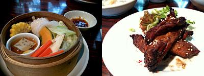 グリル&チャイナ・カフェ&バー HAKATA ONO(ハカタ オノ):旬野菜と海老蒸し餃子入りのスチームベジ