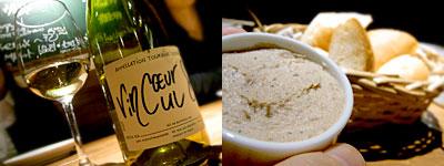ワイン食堂 倉庫:白レバーのパテ