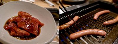 焼肉 力飯店:自家製ソーセージ