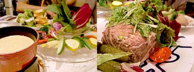 PALOMA GRILL(パロマグリル):パロマのバーニャカウダ、熟成させた田舎風お肉のパテ