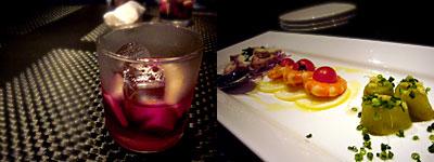 ワイン&ダイニング eight-show-A (エーイショウエー):サングリア、前菜盛り合わせ