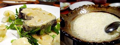 フォアグラのソテー ジャパネソース&焼きチーズのリゾット