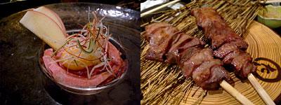 牛タン専門店 まるたんや 赤坂店:タンユッケ、厚切り熟成上タン
