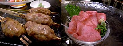 牛タン専門店 まるたんや 赤坂店:伊万里牛ステーキつくね、和牛タン刺し