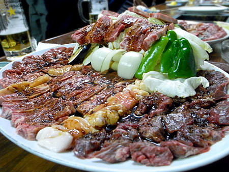 焼肉 ばってん:肉盛り盛り