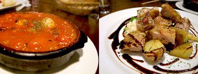 SPAIN RESTAURANT&BAR LENTE(レンテ):タコとトマトの土鍋煮、ほろほろ鳥のプランチャ