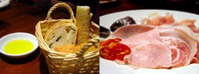 ピッツェリア ファリーナ:生ハム・ナポリ風辛口サラミの盛り合せ