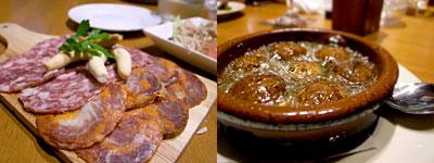 CAFE&TAPAS Esperanza (エスペランサ):イベリコ豚のチョリソ 盛り合わせ