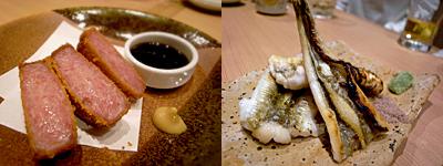 釜喜利うどん(かまきりうどん):ハムカツ、穴子白焼