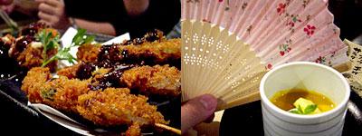 韓の豚家 芭李呑(ばりとん):南洲金豚のヒレ串カツ、南洲金豚メンチカツ