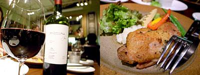 Bar Vita(バール ヴィータ):鶏モモ肉のコンフィ グリル野菜添え