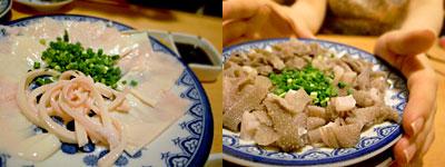 煮こみ 大名店:血管刺、センマイ刺