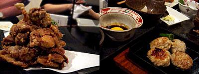 博多水炊き・唐揚げ かし和:古処鶏から揚いろいろソース、生つくね焼