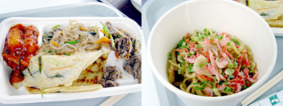 アジア4種盛りとタイ風焼きソバ