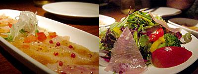 Arbby Kitchen(アービーキッチン):甘鯛のカルパッチョ、生ハムサラダ