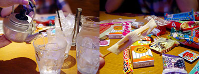 人形町駄菓子バー:やかんショット(6杯分)