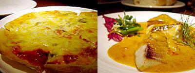Arbby Kitchen(アービーキッチン):四種類のチーズピッツア、イサキのカレーソース