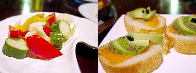 バル難破船:自家製ピクルスと、サーモンとアボカドのパン