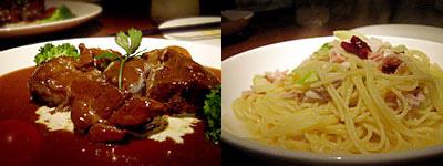 Arbby Kitchen(アービーキッチン):牛ほほ肉の煮込み、アスパラとツナのオイルパスタ