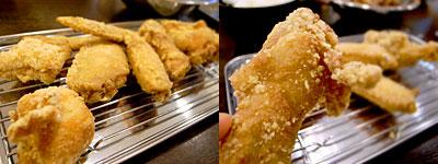 黄金彩(こがねいろ) 大博通り店:食べ放題(むね肉、手羽先、手羽元)
