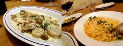 トラットリア ポルチェリーノ:栗のニョッキ キノコのクリームソース