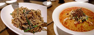 Chinese Kitchen 真心(しんしん) 上海風まぜ焼きそば、特製坦々麺