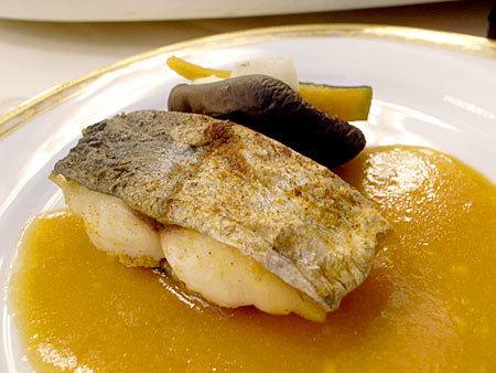 大晩餐会:県産鰆のエピス焼き 県産野菜のグリル添え
