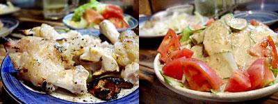 炭火焼鳥 ちびっこ大将:豚足、冷しゃぶサラダの冷しゃぶ抜き