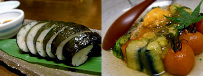西中洲 しん進:自家製かまぼこ、名物野菜のテリーヌ