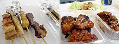 くるめ食の祭典 in 久留米:久留米焼きとり、炭火焼 豚珍韓の骨付きカルビ