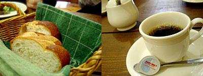 トラットリア アッカ:パンとコーヒー