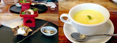 和食ビストロ 橙橙(だいだい):季節の前菜、シェフ自慢のスープ
