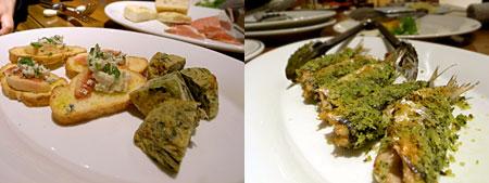 ピッコラ・フェリーチェ:シェフおまかせ前菜料理盛り合わせ