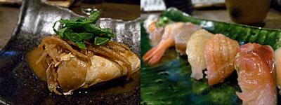 有福(ありふく):ヤズの味噌煮、お寿司