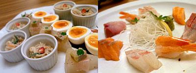 博多 表邸(ひょうてい):前菜&刺身盛り合わせ