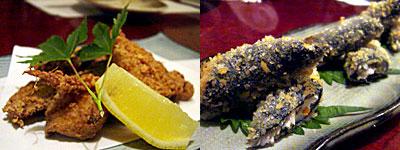 磯人 (いそじん):納豆と里芋のいそべ揚げ