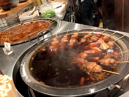 角のうぐいす:牛すじどろ炊き、角の豚串