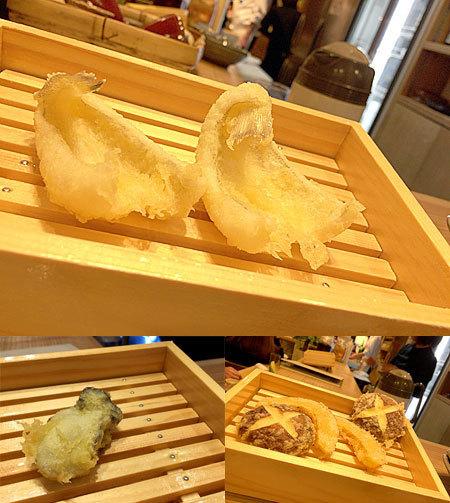 博多天ぷら ながおか:定番天ぷら盛りとアラカルト