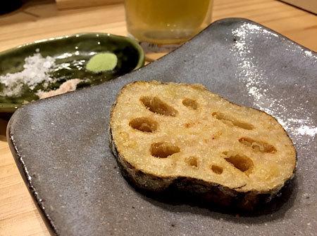 博多天ぷら ながおか:レンコン