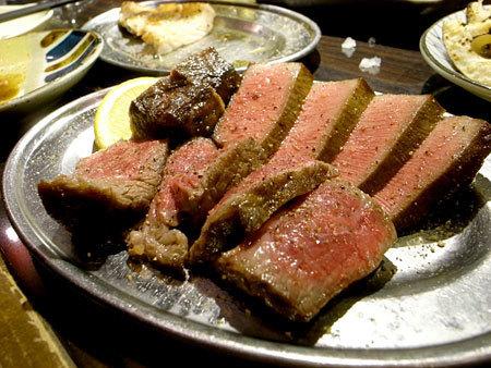 肉の雷橋:イチボ、タン