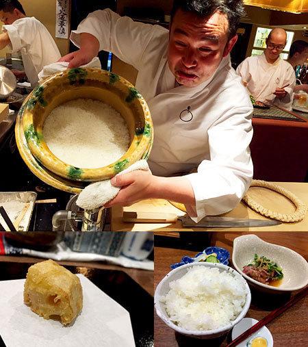 赤坂こみかん:おくどさんで炊いた白ごはん