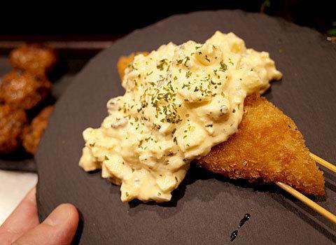 岩瀬串店:白身魚たっぷりタルタル乗せ
