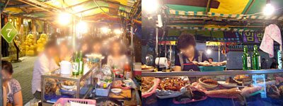 釜山旅行:夜の街@屋台