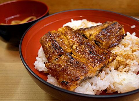 鰻 川淀:丼定食 上